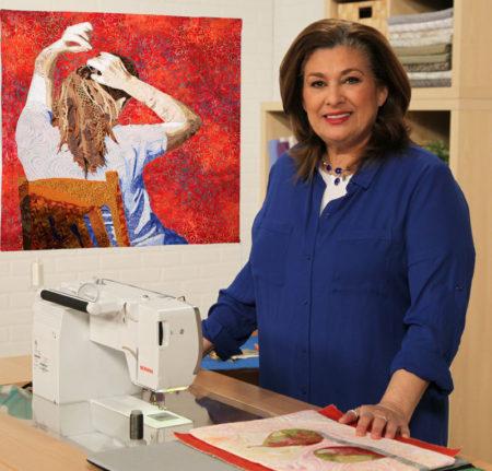 Leni Levenson Wiener in her studio