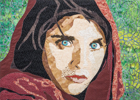 Afghan Girl art quilt by Leni Wiener