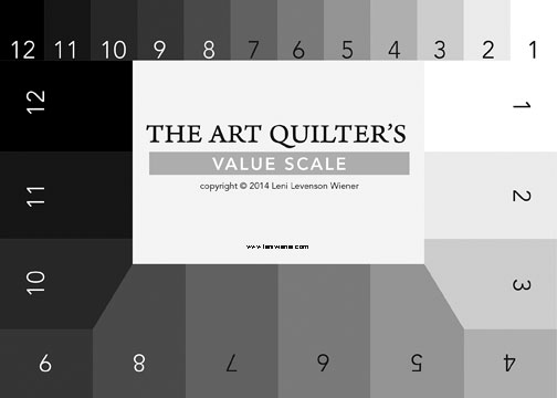 art quilters value scale card