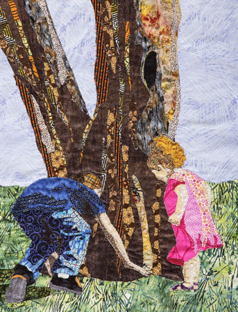 Explorers art quilt by Leni Wiener