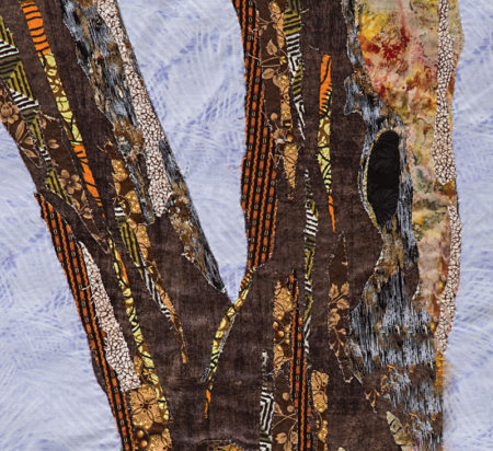 Intuitive fabric collage