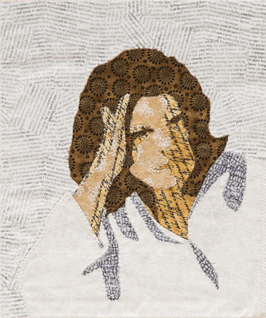 self portrait quilt